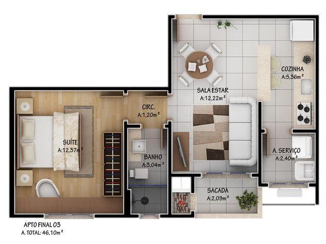 Apartamento no Centro de Lages - Foto 2