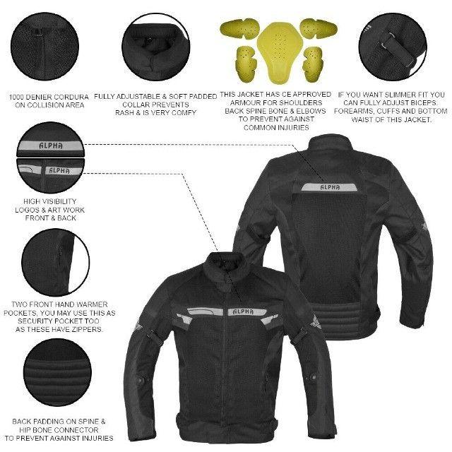 Jaqueta Motociclista com Proteção ajustes Importada - Foto 2