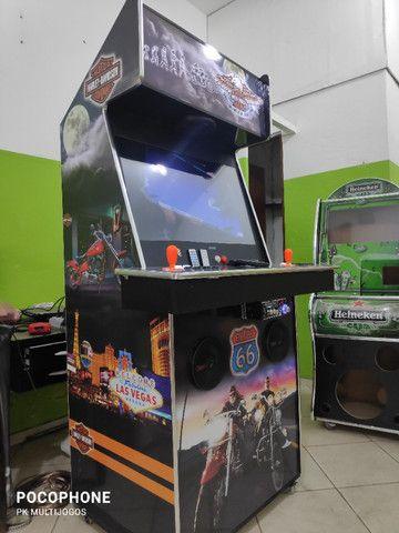 Fliperama Arcade 32polegadas com Karaoke novo tema Harley - Foto 2