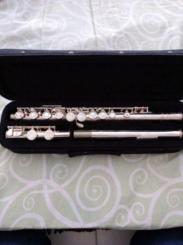 Flauta transversal Conservada pouquíssimo usada - Foto 2