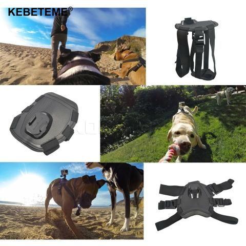 Suporte para por gopro no cachorro /dog tamanho ajustável go pro - Foto 2
