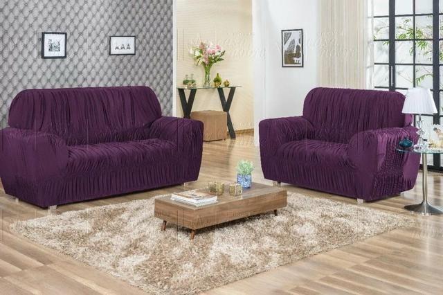 Capa de sofá de 3 e 2 lugares - Foto 2