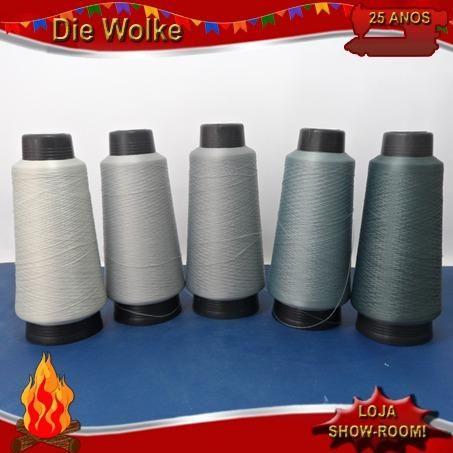 Linhas fios para máquina de costura overlock - embalagem de 100G nova - Foto 4