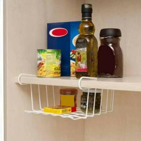 Organizador para armário cozinha 8 pçs Branco - Novo - Foto 3