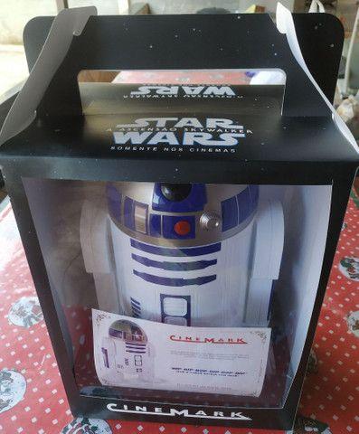 Balde R2D2 Star Wars Cinemark com Certificado de Autenticidade - Foto 2