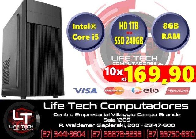 Computador Intel Core i5 | Mem 8GB|  SSD 240GB | NOVO| Garantia 1 ano
