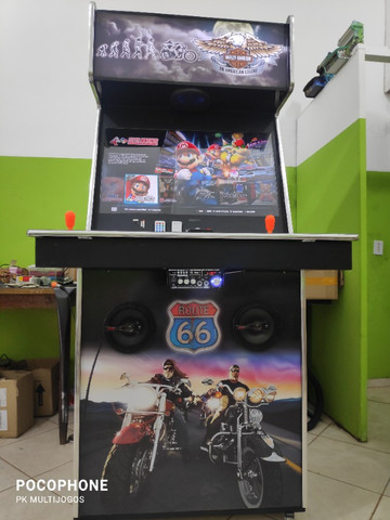 Fliperama Arcade 32polegadas com Karaoke novo tema Harley - Foto 3