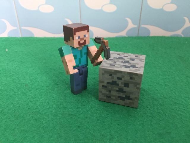 Boneco Articulado Minecraft Steve -02