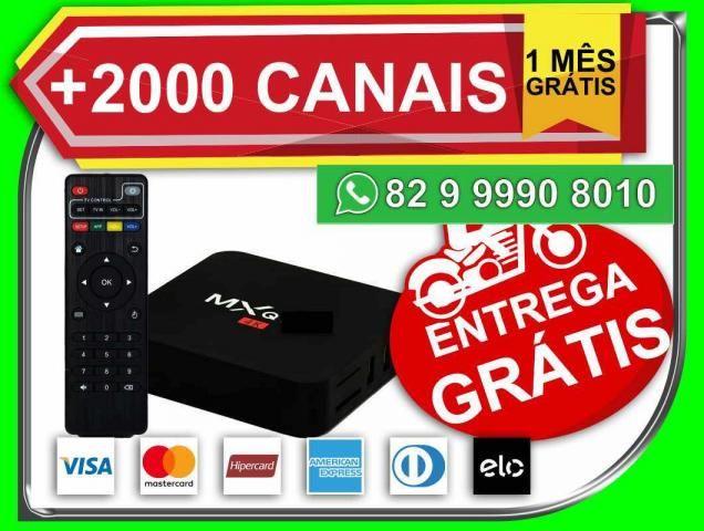 Receptor TV box NetFlix YouTube Smart Tv -Novo- Entrega e Grátis