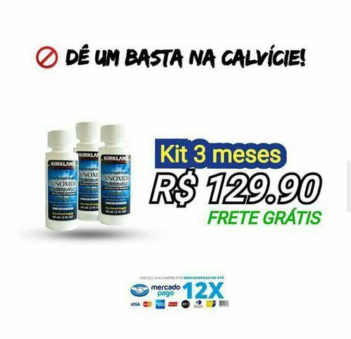 3 Frascos - Minoxidil Kirkland 5% (ENVIO GRÁTIS) - Foto 2