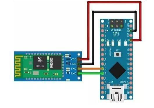 COD-AM68 Módulo Trasceiver Bluetooth Rs232/ttl Arduino Pic Avr Hc06 - Foto 3