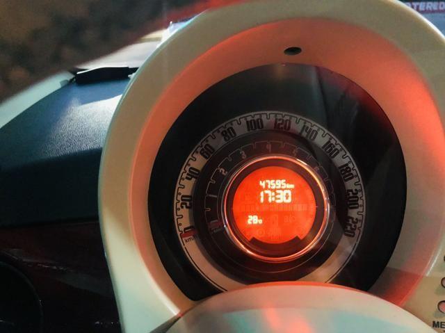 Fiat 500 2013 cult dualogic 1.4 completo revisado baixa km - Foto 12