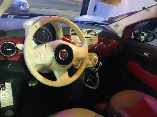 Fiat 500 2013 cult dualogic 1.4 completo revisado baixa km - Foto 11