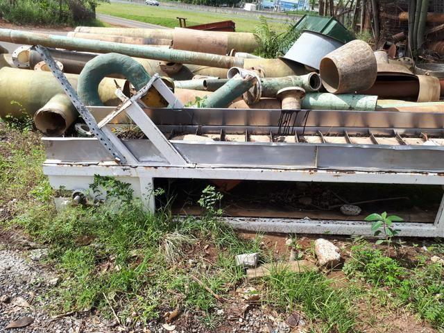 Esteira transportadora em inox e ferro usada  - Foto 2