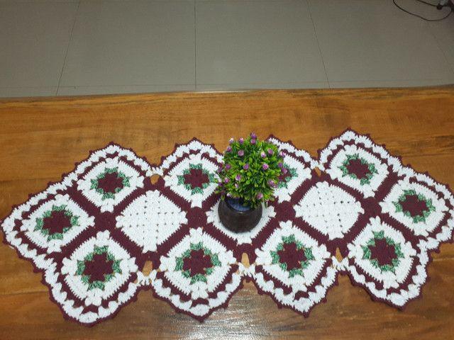Tapete de croche caminho de mesa - Foto 5