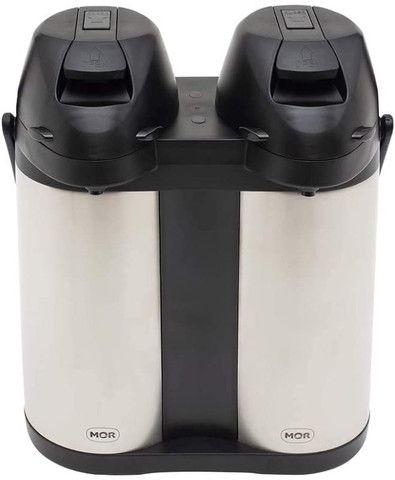 Garrafa Térmica Dupla 3,8 Litros 100% Inox Com Alavanca Mor - Original Lacrado
