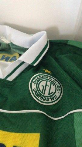 Camisa Futebol Guarani Campinas Antiga 1999 - Oficial Reebok  - Foto 3