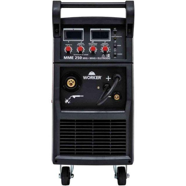 Maquina de Solda Mig/Mag Com Tocha 250A MME250 Worker - Foto 5