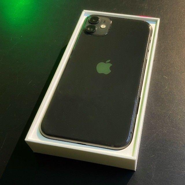iPhone 11 64gb preto na garantia + case - Foto 2