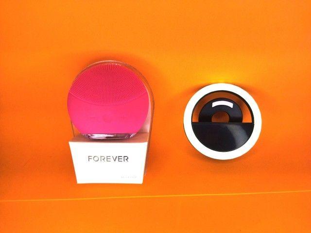 Esponja Elétrica Facial + Ring Light Selfie - Foto 6