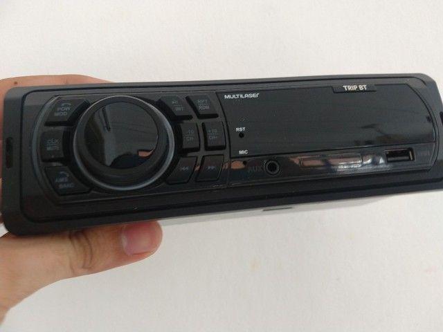 Rádio Multilaser, bluetooth, USB, P2, e cartão