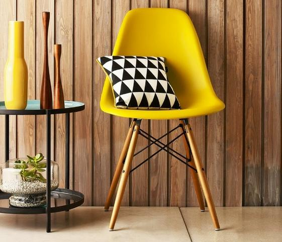 Cadeira Charles Eames Eiffel Dkr Wood