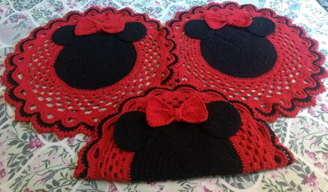 Tapetes de crochê minnie