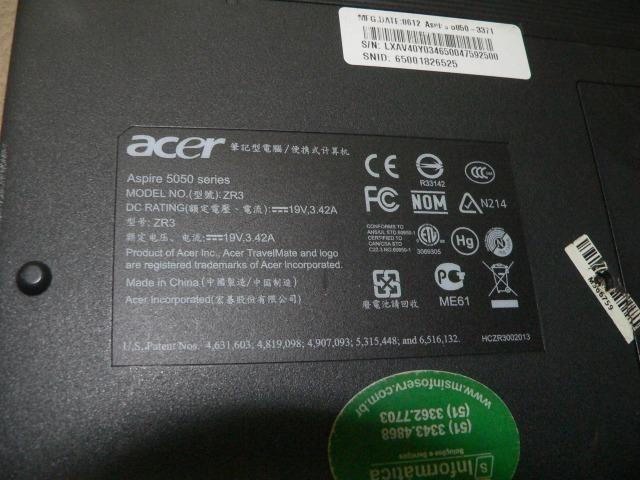 Notebook Aspire modelo 5050 - Para Retirada De Peças - Foto 2