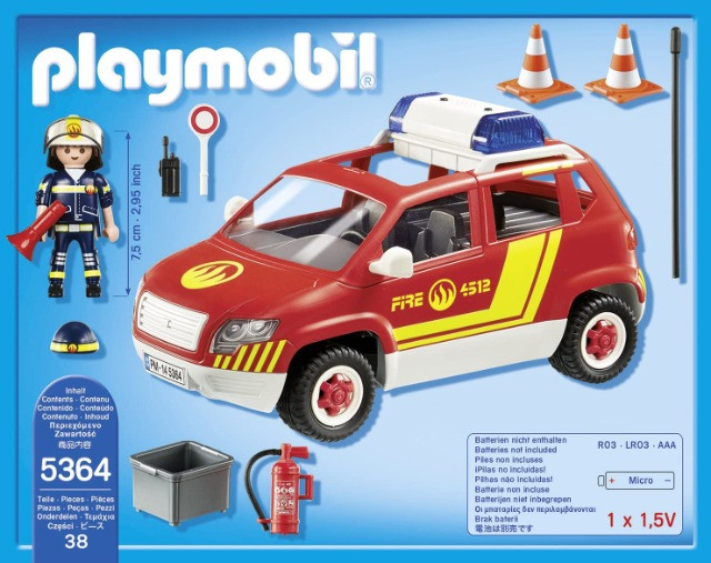 Playmobil 5364 - Fire Chief's Car with lights & sound - Foto 3