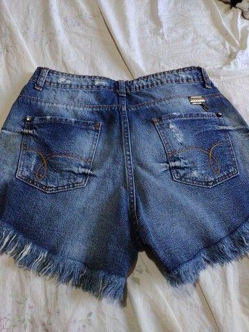 Shorts jeans Tam 40 novo - Foto 2