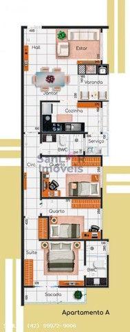 Apartamento para Venda em Ponta Grossa, Jardim Carvalho, 3 dormitórios, 2 suítes, 2 banhei - Foto 2