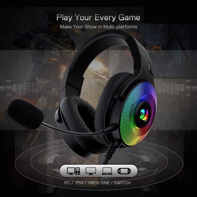 Fone de Ouvido Headset Gamer Pandora H350 RGB Redragon - Foto 4