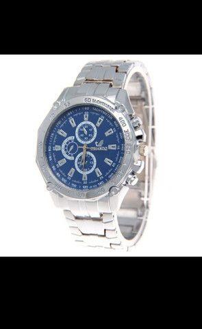 Relógio de Luxo Masculino de Quartzo/Relógio de Aço Inoxidável Geneva para Homens - Foto 3