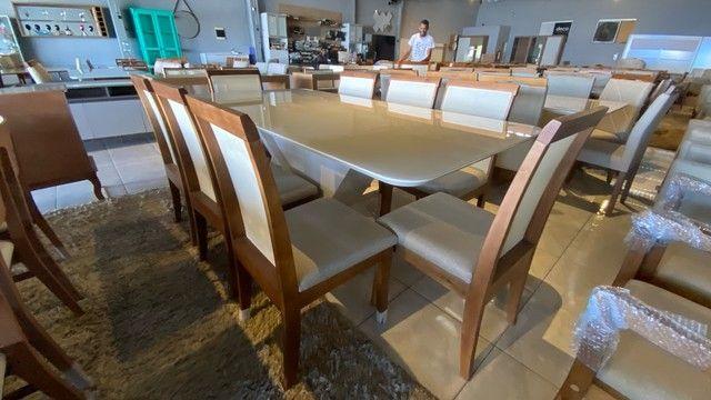 Mesa 8 completa de madeira maciça pronta entrega