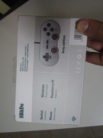 Controle SN30 8BitDo Original Novo Para PC, Nintendo Switch, Raspberry Pi - Foto 5