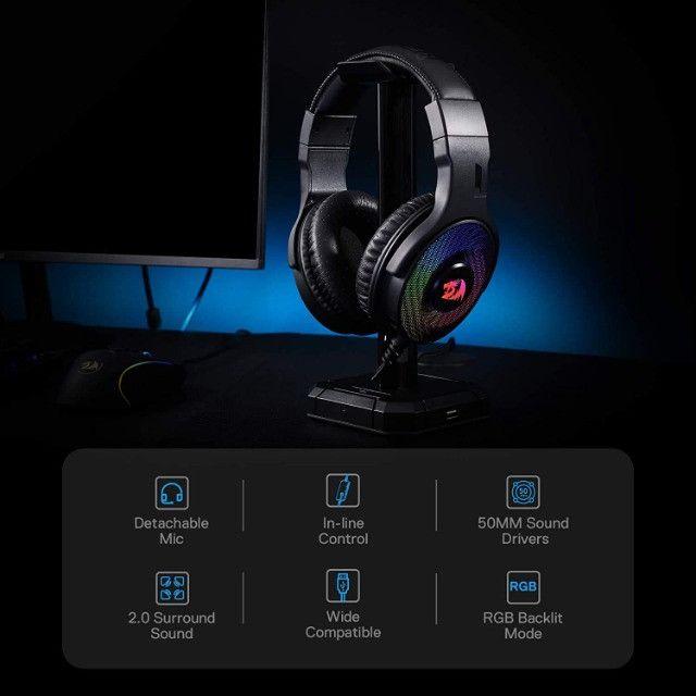 Fone de Ouvido Headset Gamer Pandora H350 RGB Redragon - Foto 2