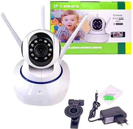 Câmera segurança robô visão noturna HD 360º