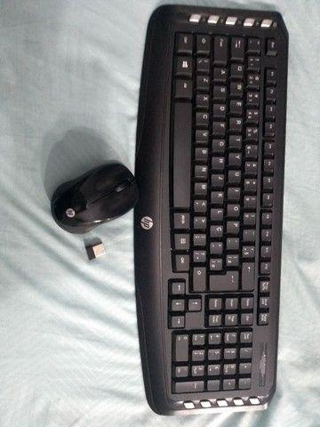 Vendo teclado e mouse Hp sem fio