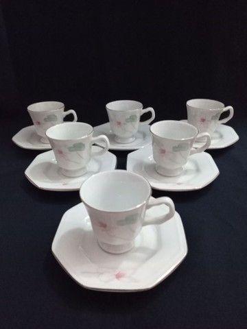 Conjunto de porcelana Schmidt para cafezinho.<br> - Foto 4