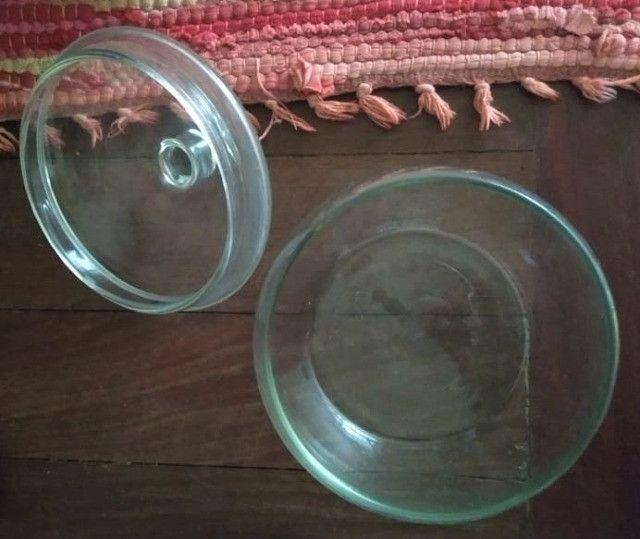 Bomboniere em vidro com tampa - Foto 3