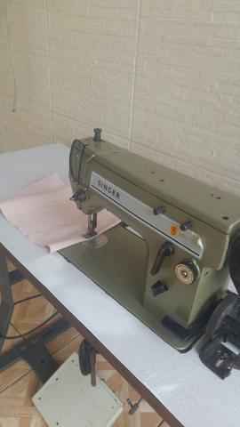 Maquina de costura singer industrial reta zig zag!