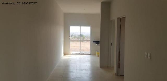 Casa para venda em várzea grande, paiaguas, 3 dormitórios, 1 banheiro, 2 vagas - Foto 2