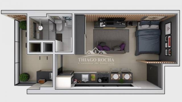 Studio com 1 dormitório à venda, 30 m² por r$ 140.900 - são pedro - são josé dos pinhais/p - Foto 9