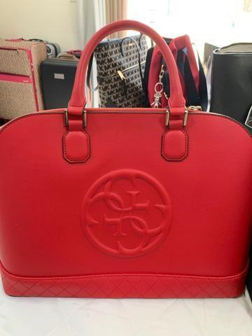 6a384096c Bolsa Coach vermelha de couro . Original. Troco por Apple Watch ou ...