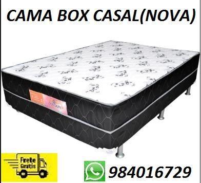 Compre e Receba No Mesmo Dia Linda Cama Box Casal Nova Muito Barata 350,00