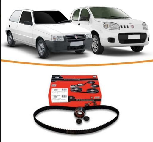 Kit Correia Dentada Fiat Uno 1.0 8v Fire 2001 A 2017