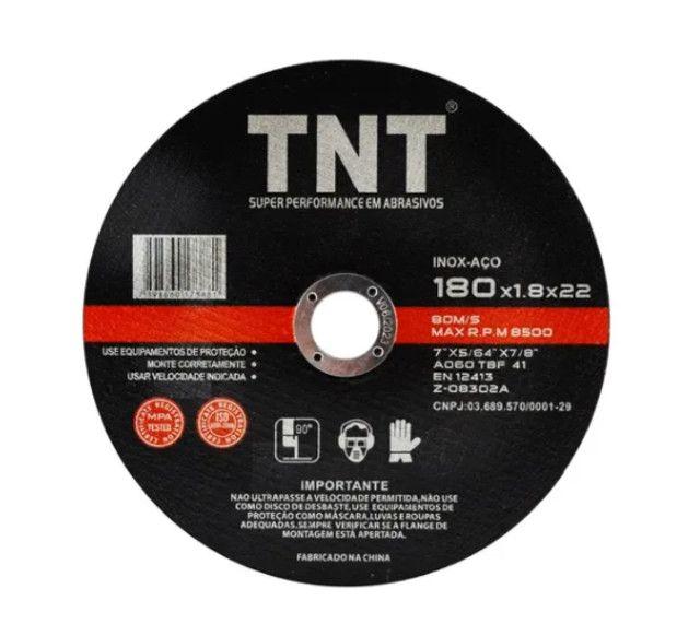 Disco De Corte tnt black Fino Ferro 7 Polegadas - 180mm.