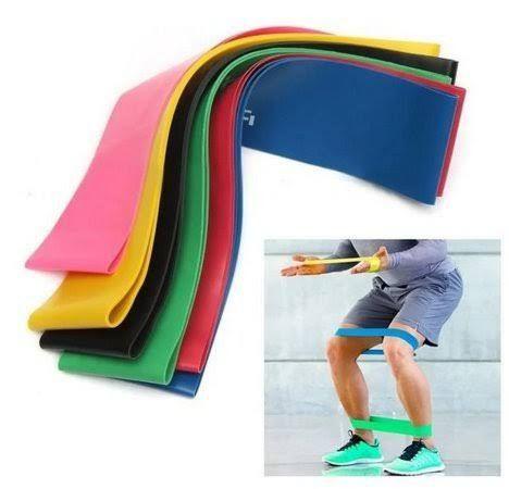 Kit 5 faixas elásticas mini Band exercício funcional yoga Pilates treino fitness - Foto 5