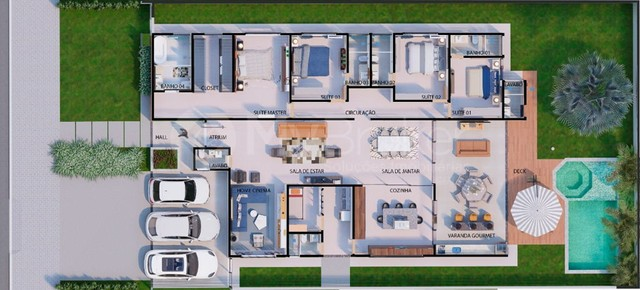 Casa em condomínio com 4 quartos no Condomínio Jardins Paris - Bairro Jardins Paris em Goi - Foto 4
