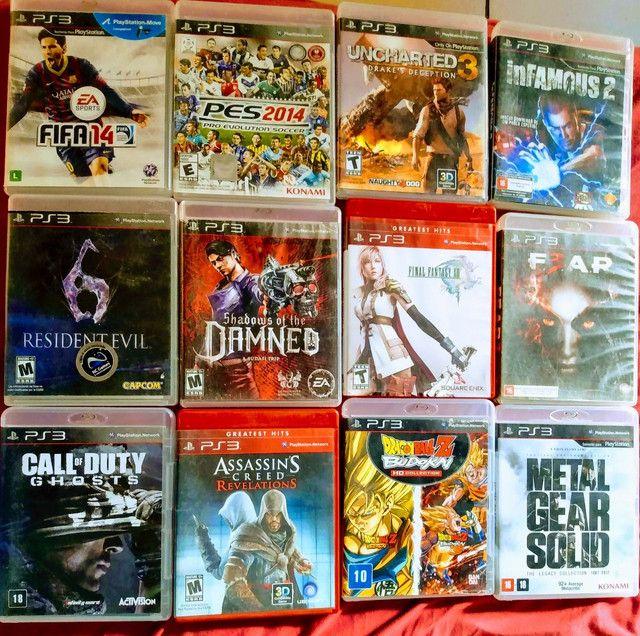 Jogos PS3 mídia física.